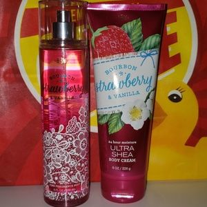 New strawberry and vanilla lotion and spray